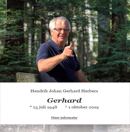 in memoriam Gerhard Herbers
